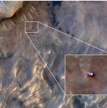 Thats the rover Curiosity taken from spaceEvery time I look this image it makes me feel proud about the advancements humankind has made in spacetech
