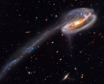 Thats the Tadpole galaxy It collided with another galaxy
