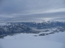 thats why I love backcountry skiing View to the Rhine Valley Switzerland