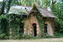Thaumiers mansion in an abandoned village in France being overtaken by nature