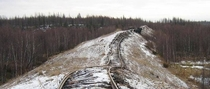 The abandoned arctic circle Salekhard-Igarka railway its construction was part of Stalins gulag system