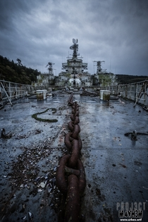 The abandoned Atlantic Ghost Fleet - Anti-Aircraft Cruiser