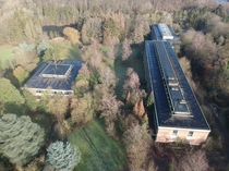 The abandoned Bierenberg Campus in Belgium which has been empty since  seen from above