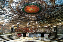 The abandoned Buzludzha Monument in Bulgaria
