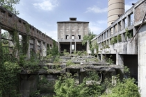 The abandoned cement factory on the outskirts of Zagreb Croatia