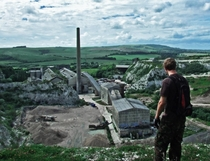 The abandoned cement works lies waiting to be explored