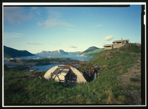 The abandoned command post and coastal defense battery of the Naval Operating Base at Dutch Harbor
