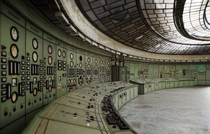 The abandoned control panel of a thermal power plant in Hungary