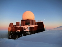 The abandoned DEW Line radar site DYE- located atop the Greenland Ice Cap