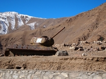 The abandoned hulk of a Soviet T- in Afghanistan - Tom Palmer
