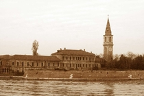 The abandoned island of Poveglia in the venetian lagoon