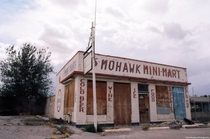 The abandoned Mohawk Mini-Mart sits off of route  in Oro Grande California