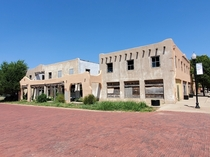 The abandoned Panhandle Inn Panhandle Tx Built in  restoration efforts in the early s fizzled out