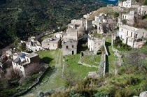 The abandoned Town of Gairo Vecchio Italy