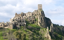 The abandoned Village of Craco Italy Residents left the village following an earthquake in the s