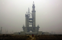 The abandoned Wonderland Amusement Park outside Beijing China