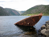 The abandoned wreck of Nazi Destroyer Georg Thiele sunk in