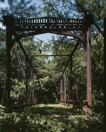 The abandoned Zoarville Station Bridge