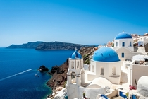 The Agean Sea from Santorini Greece