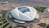 The Al-Janoub Stadium designed by Zaha Hadid located in Al-Wakrah Qatar It is one of the eight stadiums in Qatar which will host matches of the  FIFA World Cup