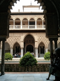 The Alczar of Seville one of the finest examples of Iberian Moorish architecture