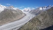 The Aletsch the greatest glacier of the Alps Switzerland