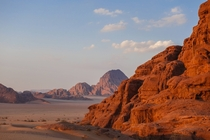 The alien landscape of Wadi Rum Jordan