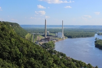 The Alma Generating Station on the Mississippi river at Alma WI