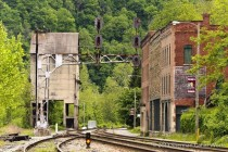The almost ghost town of Thurmond West Virginia in the New River gorge Population
