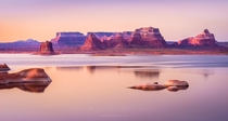 The almost otherworldly landscape of Lake Powell at dawn in southern Utah  by Peter Bhringer