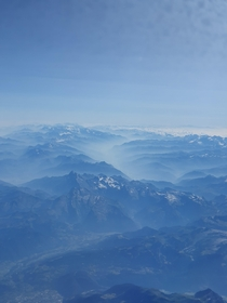 The Alps Currently in Rome This picture I got from the plane is still one of my favourites so far