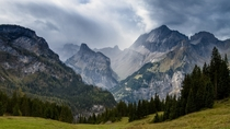 The Alps in Kandersteg Bernese Oberland
