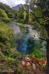 The amazing Blue Eye Spring near Sarande in Albania Its over  metres deep and to date no-one has ever reached the bottom