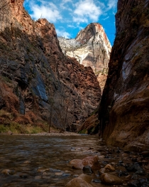 The amazing Narrows Trail Zion National Park Utah