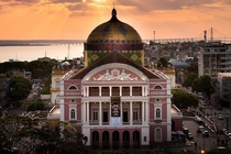 The Amazonas Theater in Manaus Brazil