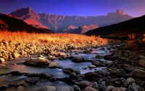 The Amphitheatre in the Drakensberg mountains South Africa Picture taken from the Tugela river x