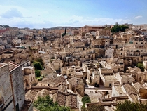 The ancient city The Sassi of Matera Italy