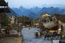 The ancient village of Liannan Qingyuan City Guangdong Province China by Baoli Zheng