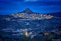 The ancient walled town of Morella in the province of Castelln Valencian Community Spain