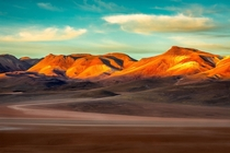 The Andean Mountains at sunrise South Bolivia