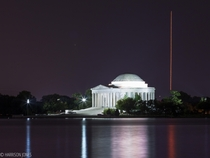The Antares Launch over the Jefferson Memorial in DC last night