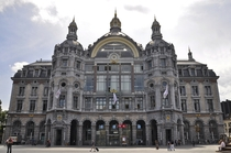 The Antwerpen-Centraal railway station constructed - Belgium