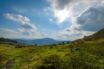 The Appalachian Trail offers some great views Mount Rogers National Recreation Area Virginia