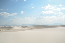 The Appropriately-Named White Sands National Monument New Mexico