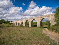 The aqueduct of Castries Hrault - France along  meters and a slope of only  meters The aqueduct of Castries Hrault - France along  meters and a slope of only  meters