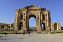 The Arch of Hadrian in Jerash Jordan