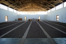The Arena by Donald Judd Part of his art complex in Marfa Texas