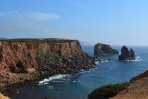 The Atlantic cliffs of Algarve Portugal OC