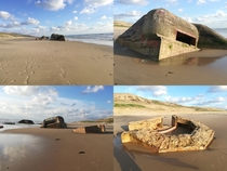 The Atlantic Wall German Atlantikwall built by Nazi Germany between  and  along the coast of continental Europemiles ca  km These are photos from FranceIn the picture below right in the background you can see a dune where the bunker originally stood