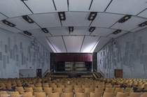 The auditorium in an abandoned Ontario High School